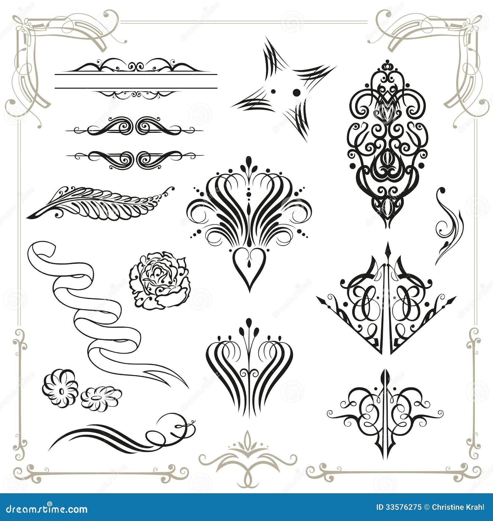 calligraphy decoration royalty free stock photo image