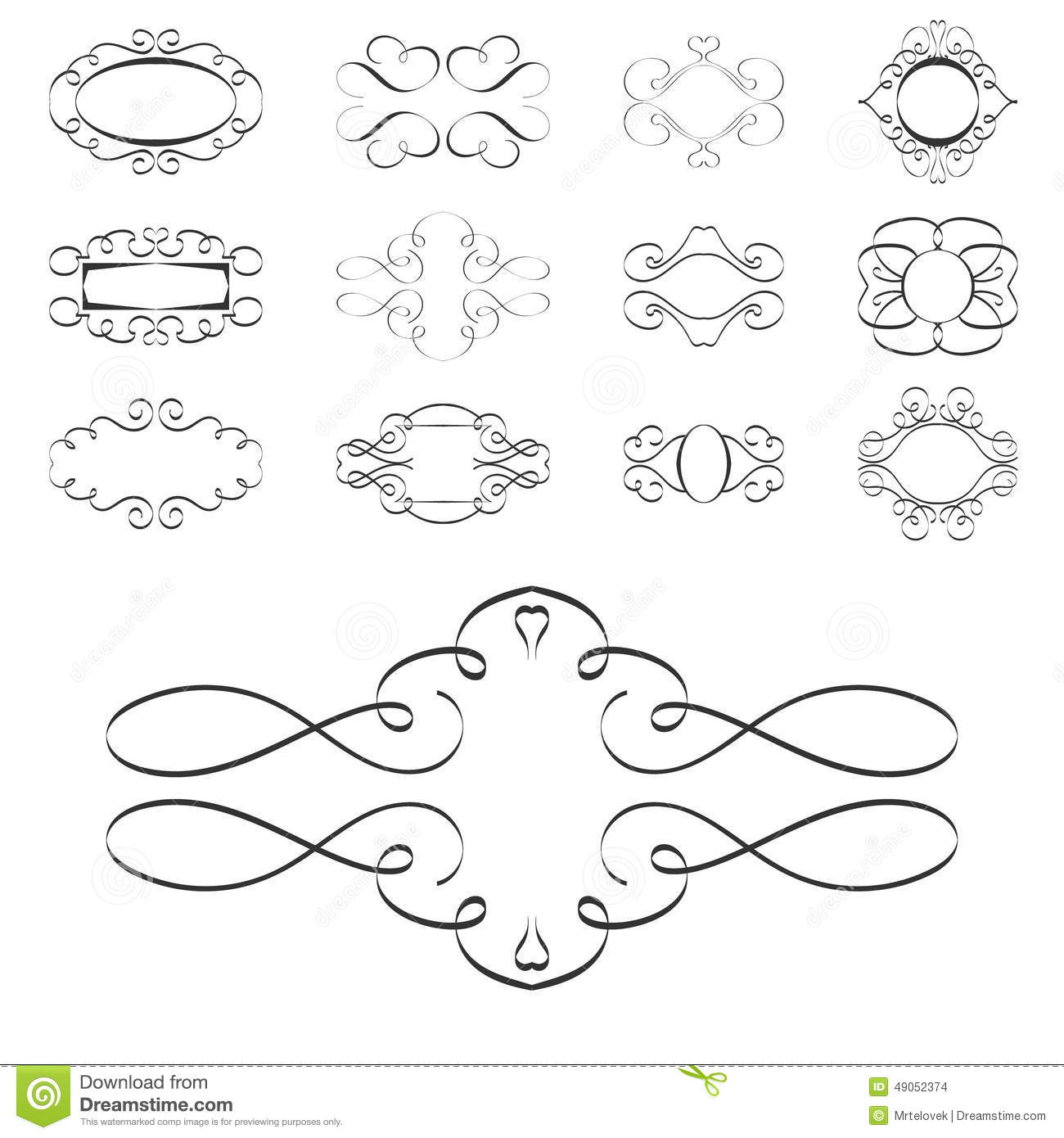 Calligraphy Design Elements Ornaments Page Templates