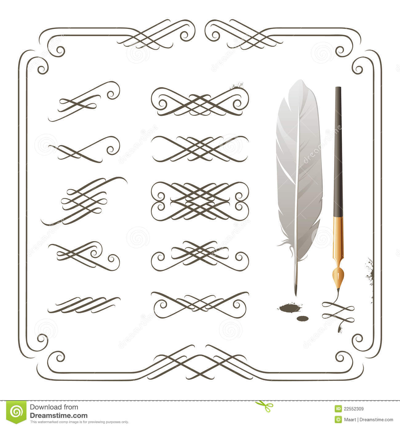 Calligraphy Elements Royalty Free Stock Images Image