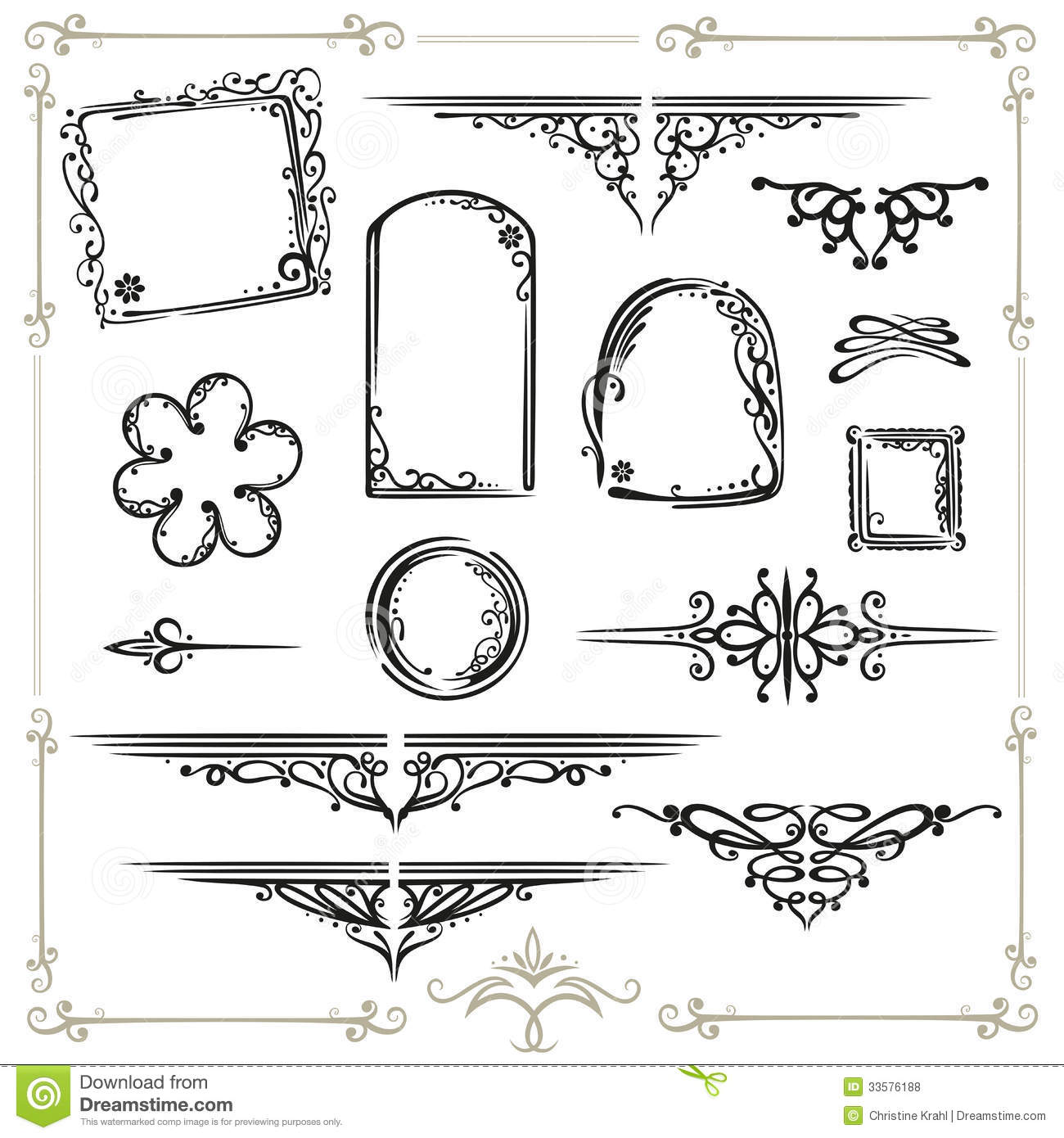 Calligraphy frames royalty free stock photos image