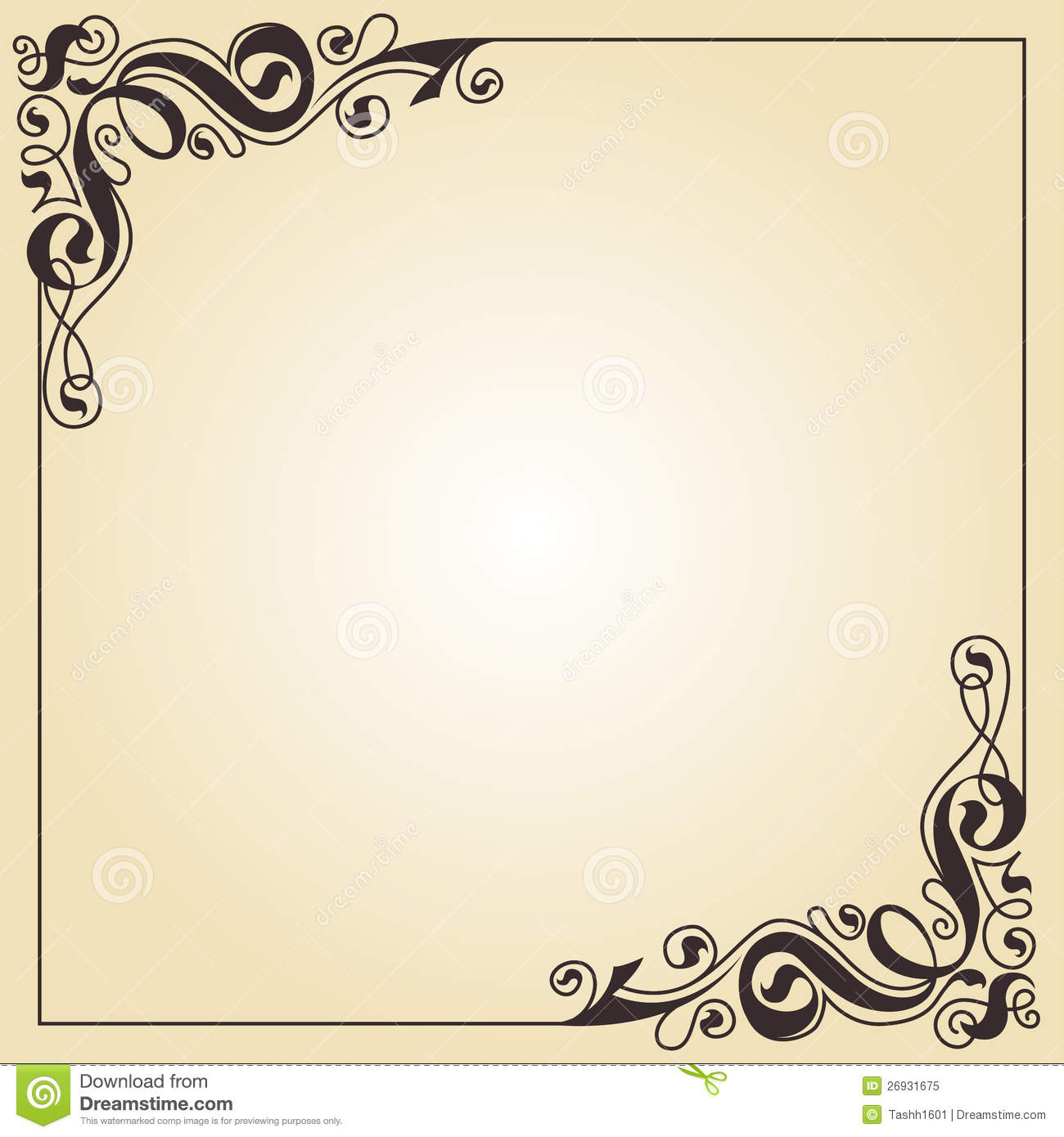 Calligraphy ornament frame royalty free stock photo