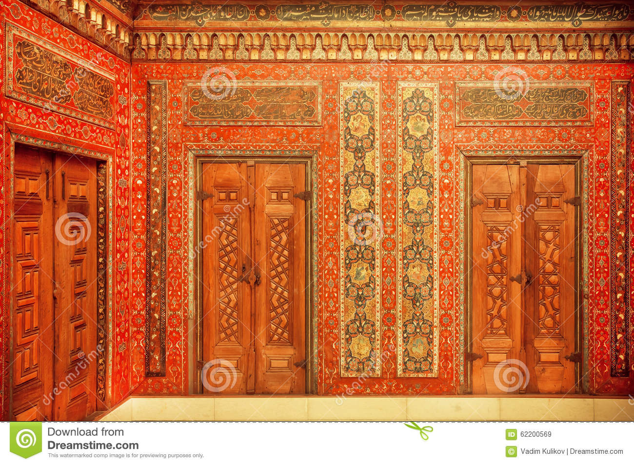 Editorial Stock Photo & Calligraphy And Paintings On The Doors Of 17th Century Aleppo Room ... pezcame.com