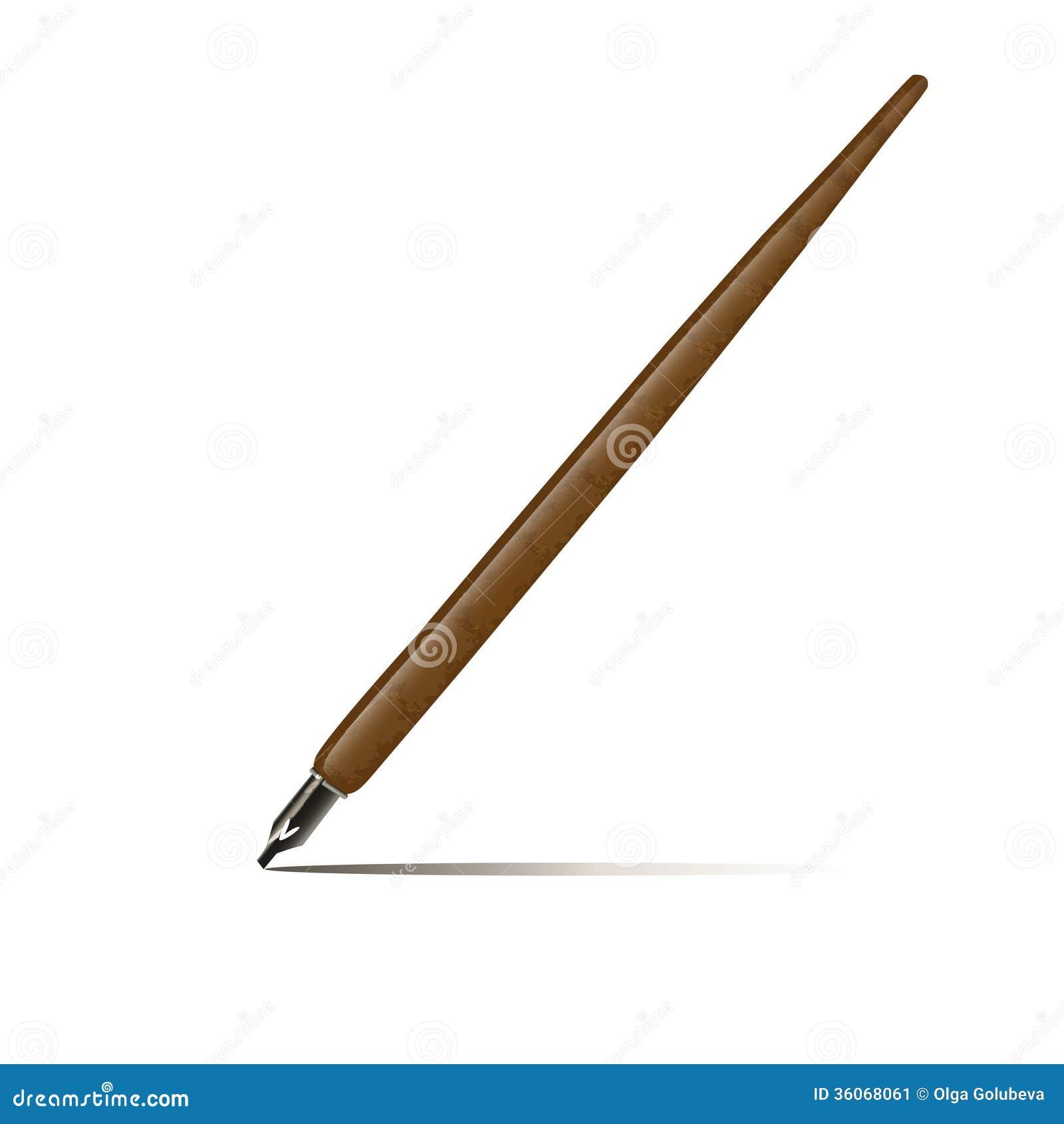 Calligraphy Pen Isolated On White Stock Image Image