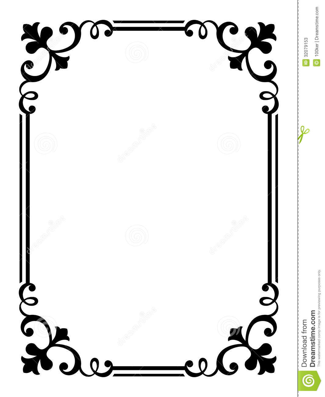 calligraphy penmanship curly baroque frame black stock photos image 32079153. Black Bedroom Furniture Sets. Home Design Ideas