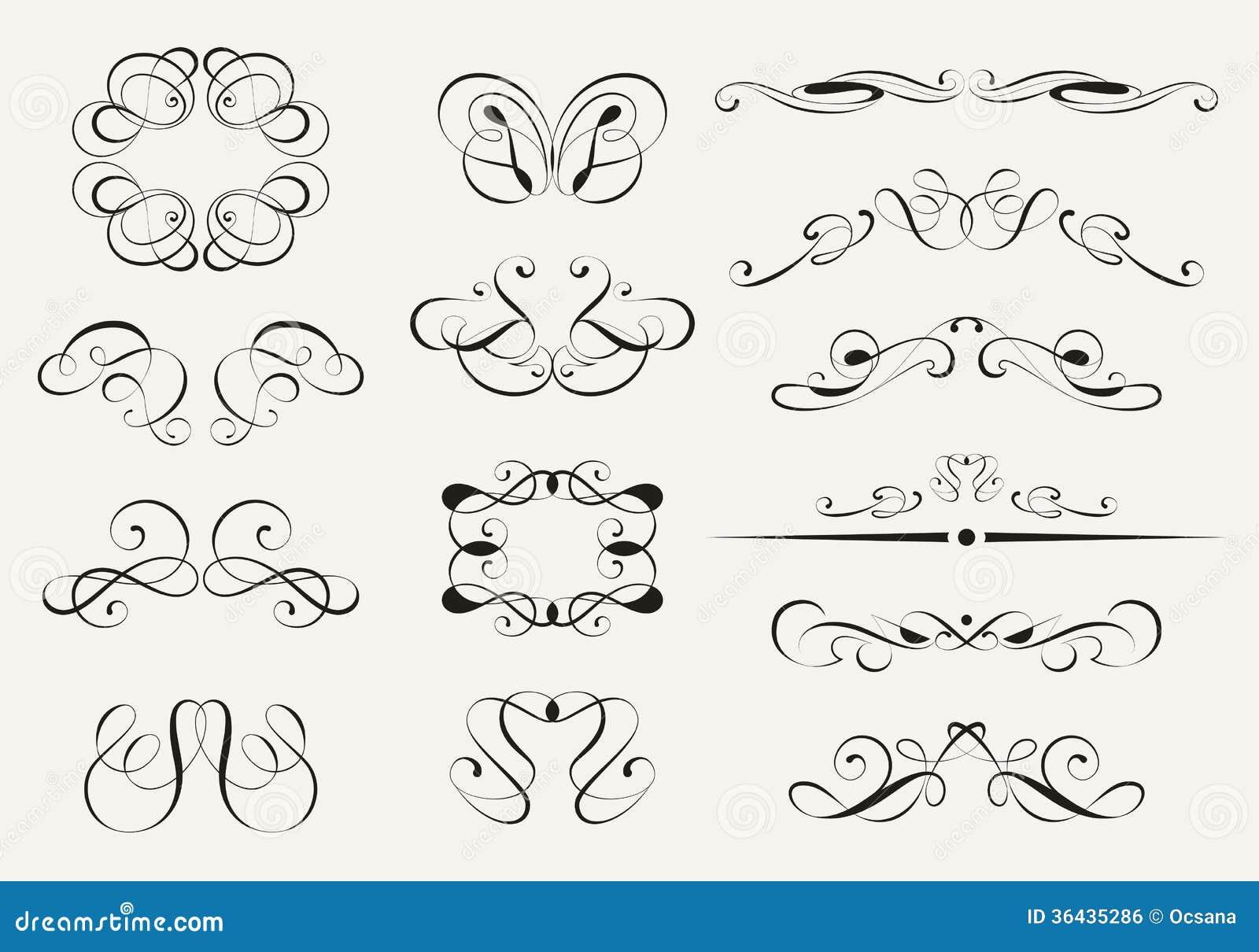 Calligraphy set royalty free stock image