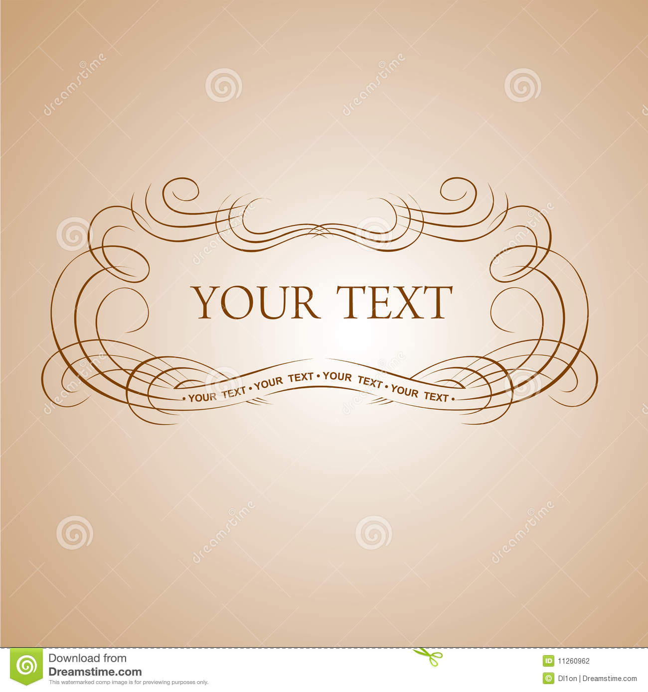 Calligraphy text banner stock photography image