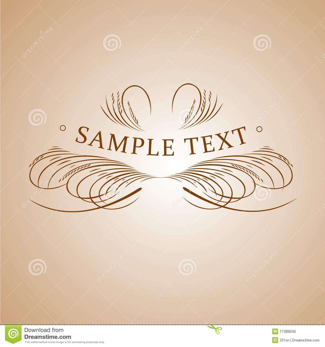 Calligraphy text banner royalty free stock photo image