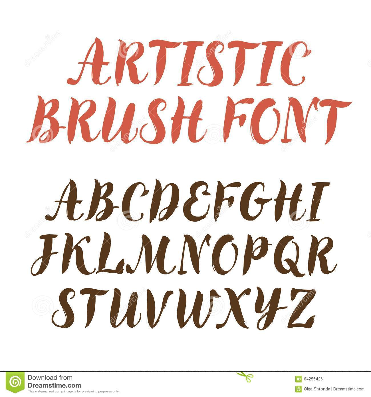 Calligraphy Vector Font Stock Vector Image Of Font