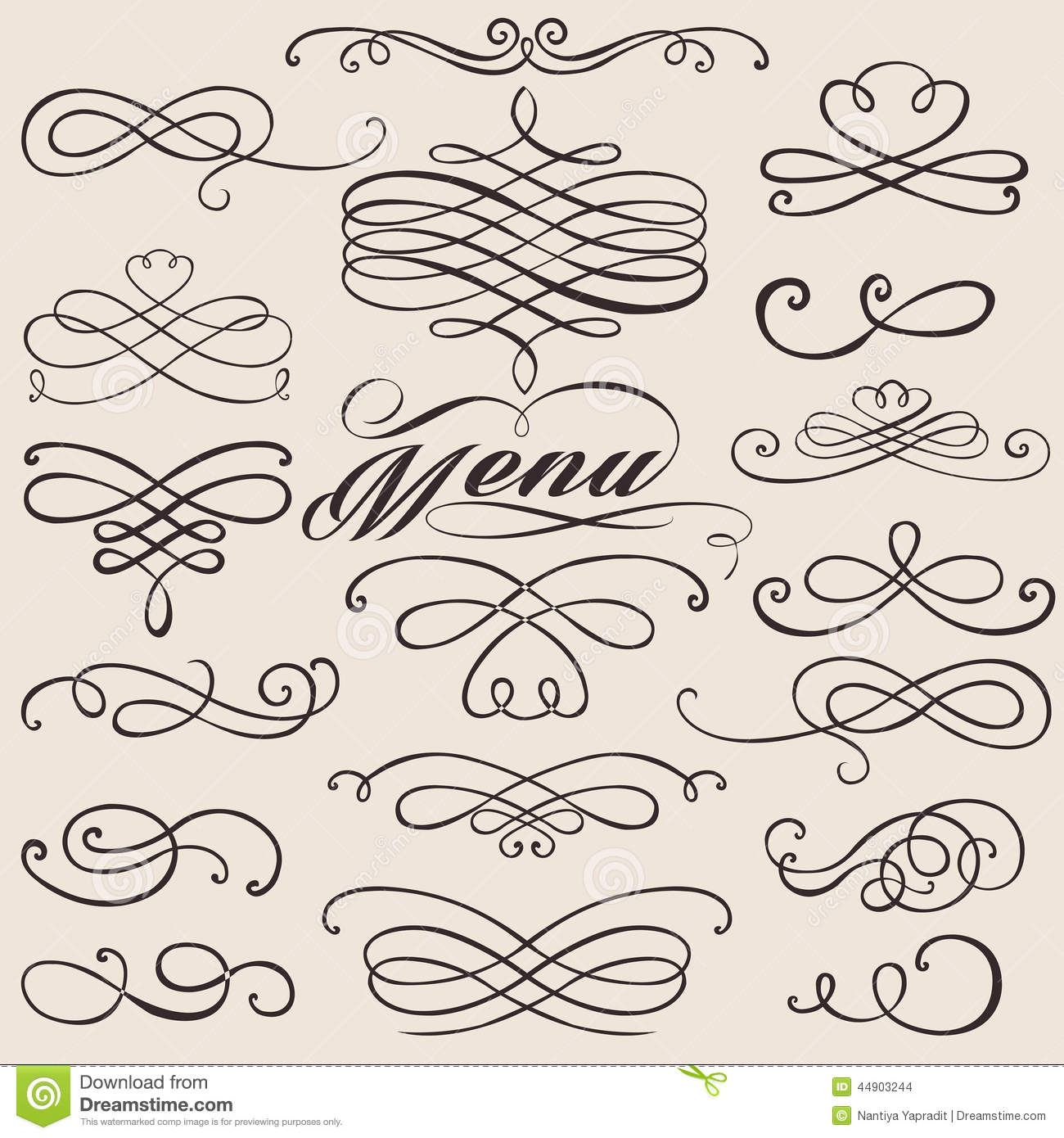 Calligraphy Vintage Elements Stock Vector Image 44903244
