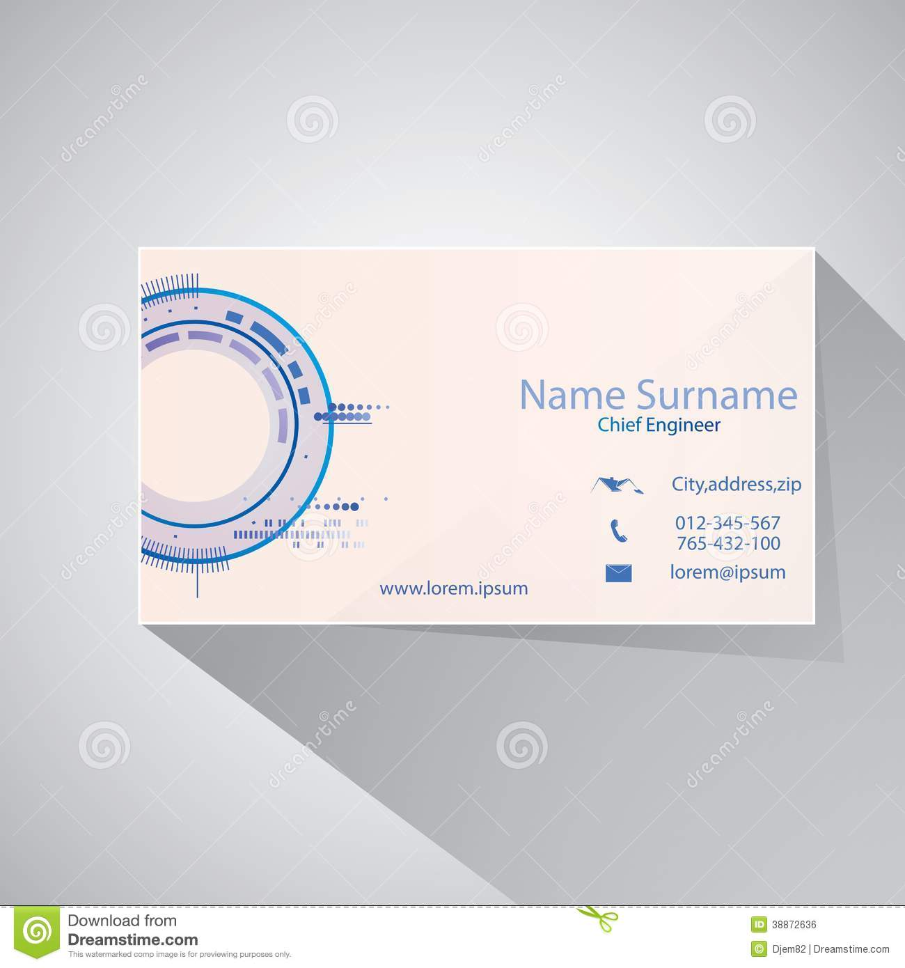 Technology engineer business card template stock vector image calling card of chief engineer royalty free stock image magicingreecefo Image collections