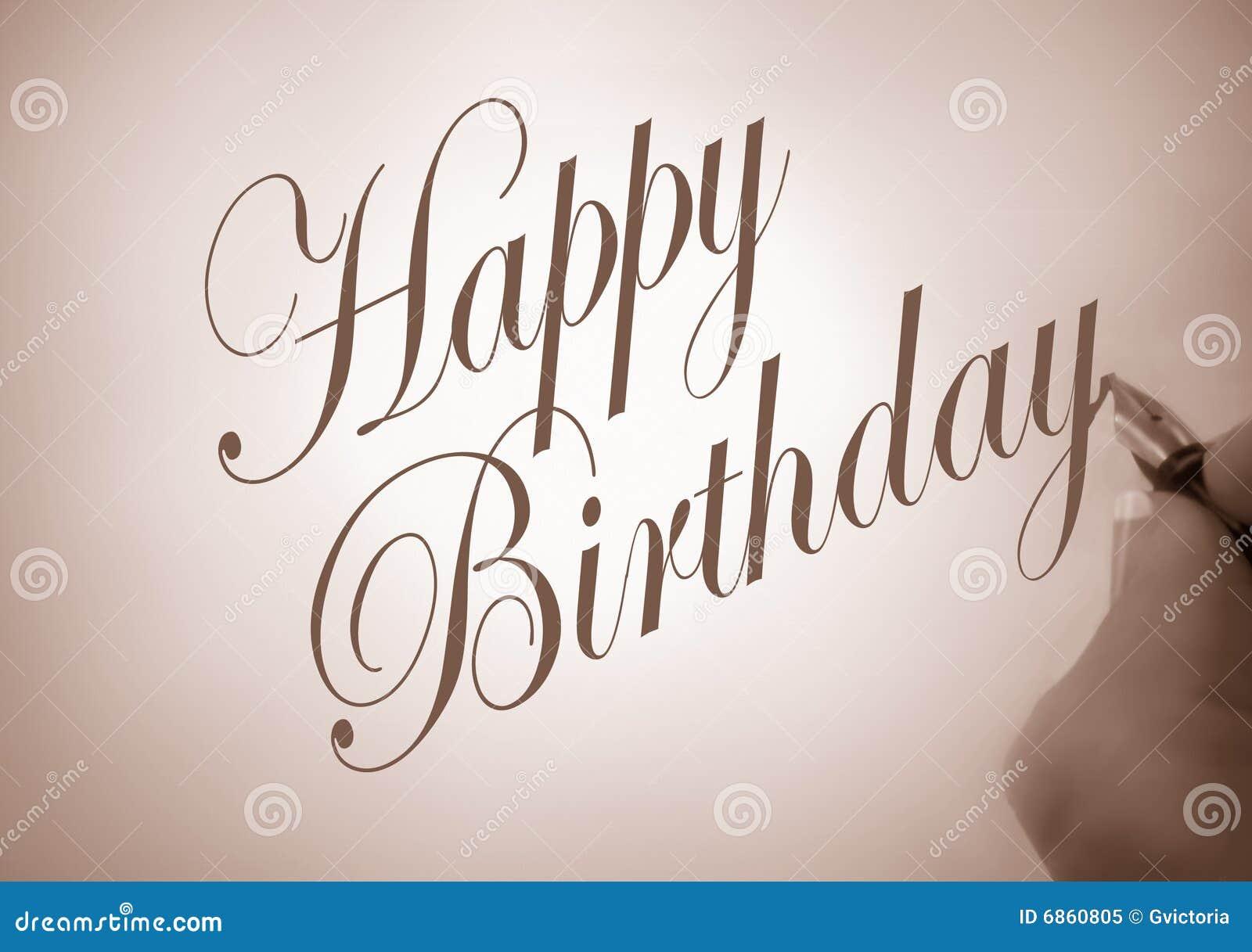 Callligraphy дня рождения счастливое