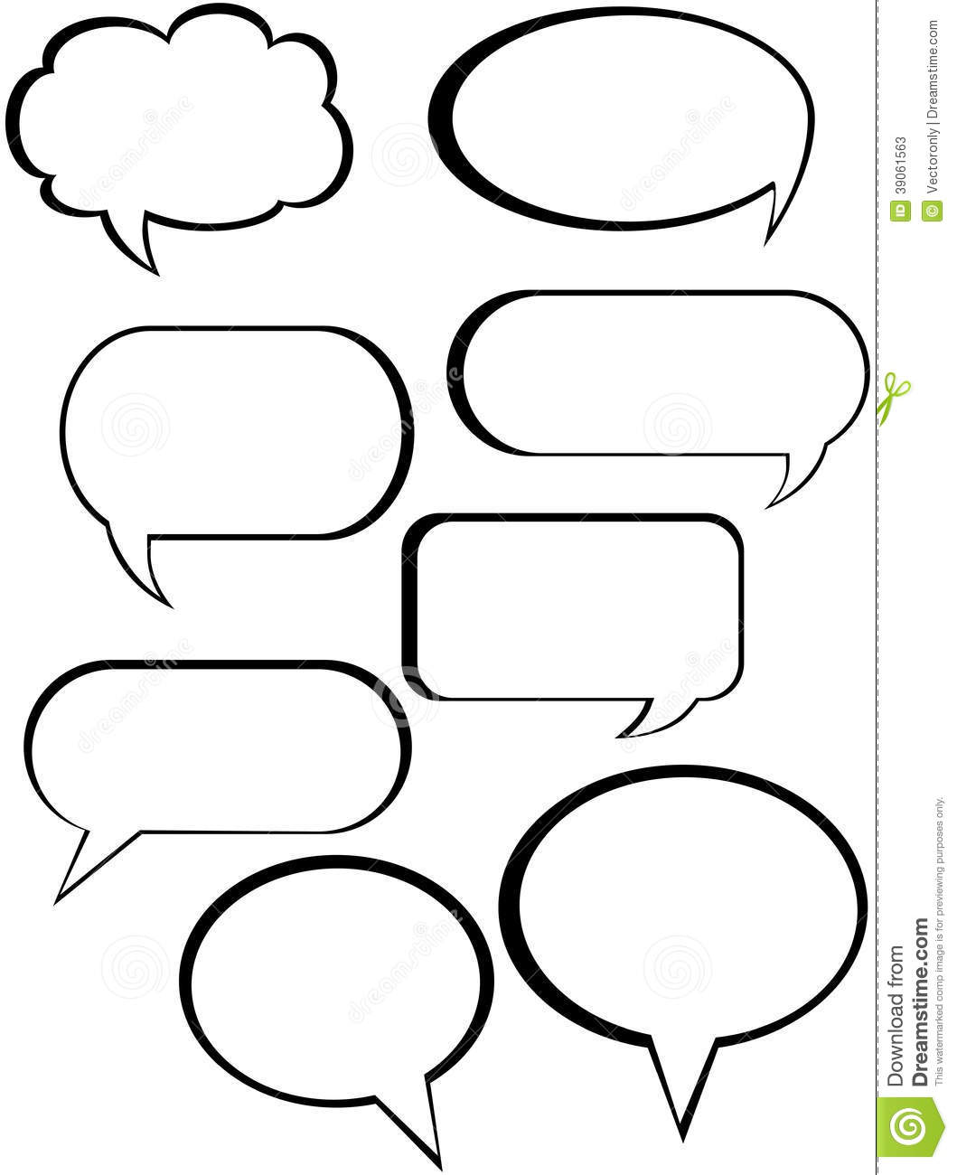 Stock Photos Callouts Vector Illustration Call Outs Black Image39061563 on Shapes Rubber Stamp
