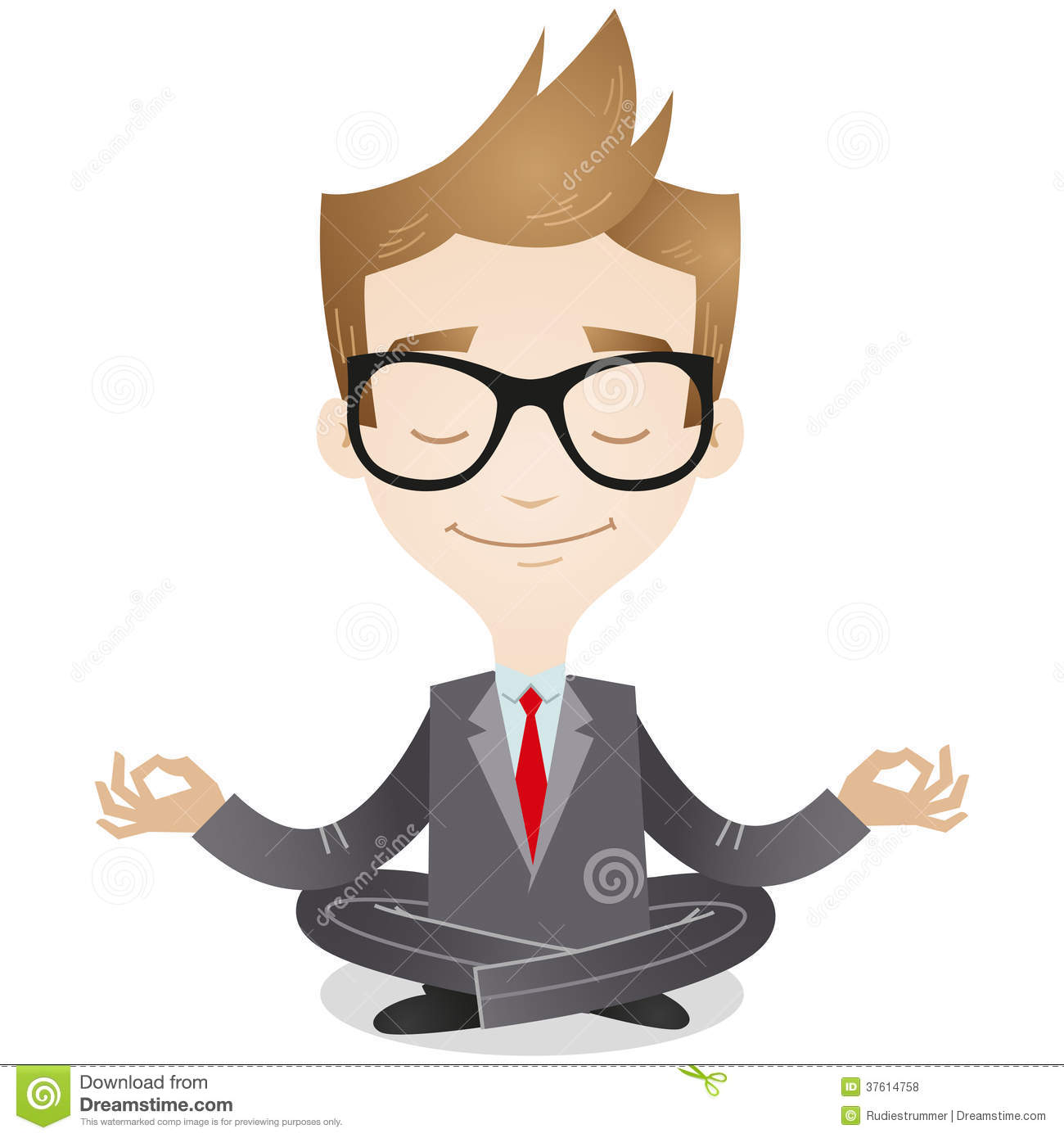 Calm Businessman Meditating Royalty Free Stock Photos