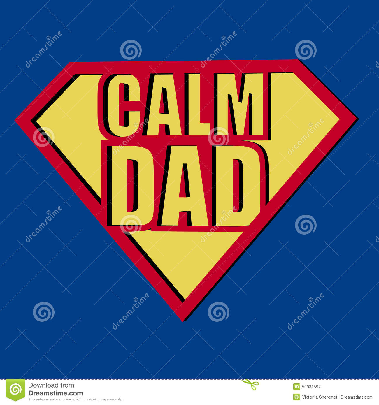 calm dad t shirt typography vector illustration stock vector image 50031597
