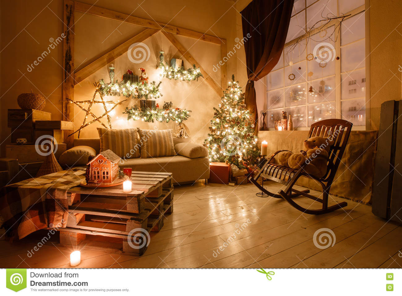tree living room tree in modern living room stock photo 11000