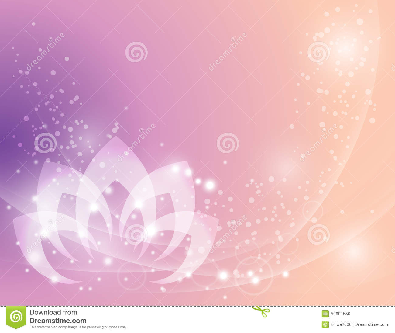 Calm Lotus Flower Background Stock Vector Illustration Of Nature