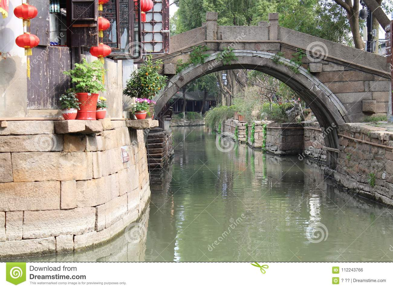 Download Calm Morning In South River Of City SUZHOU China Stock Photo - Image of china, oriental: 112243766
