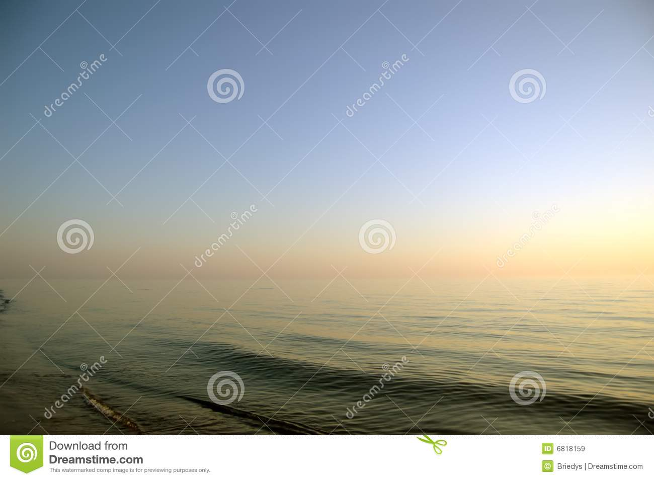 Calm Sea In The Evening, Clear Sky Royalty Free Stock