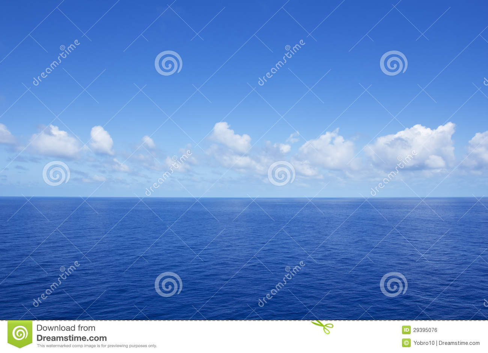 Calm Vibrant Blue Ocean