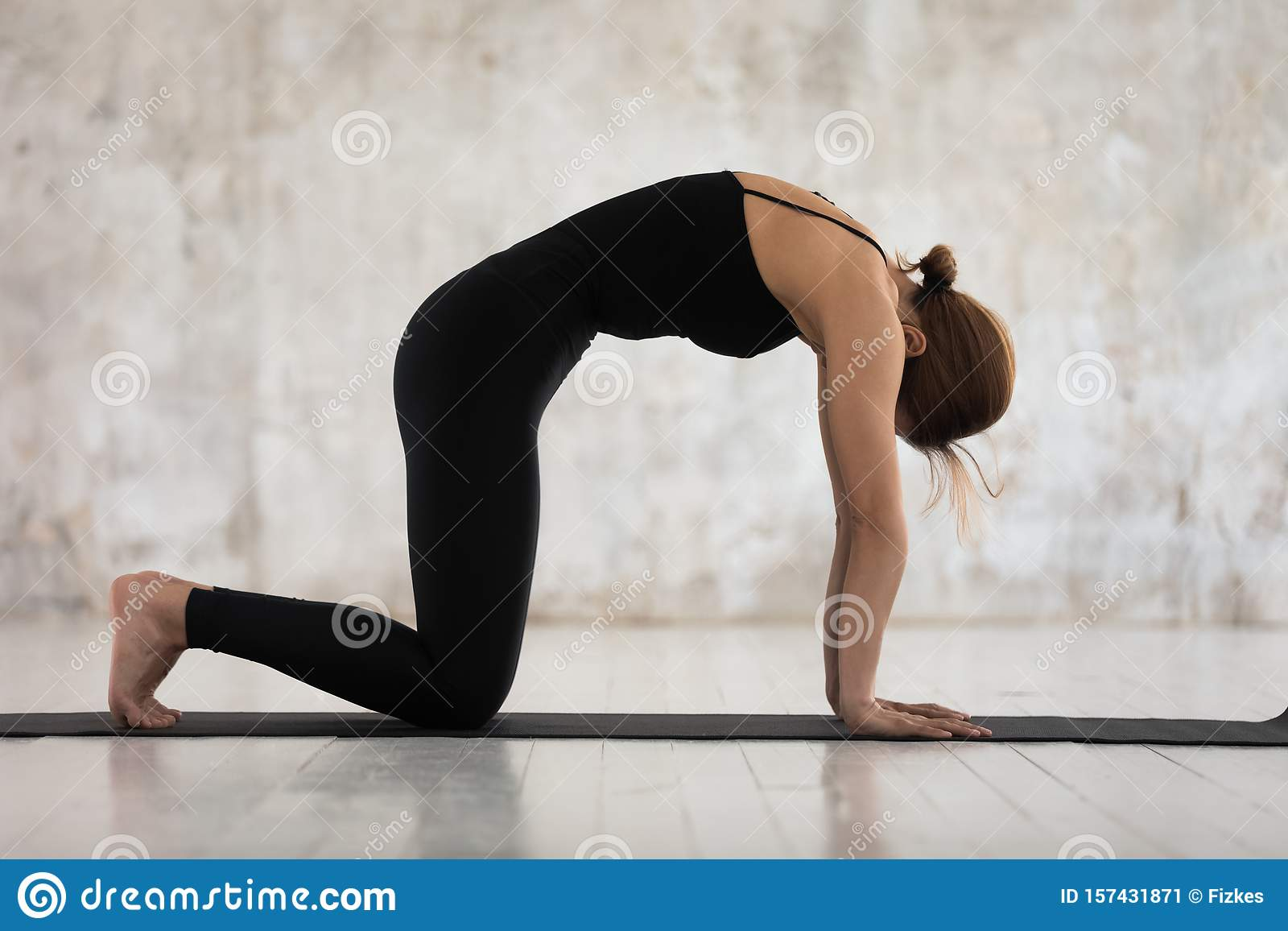 Yoga Standing Cat Pose
