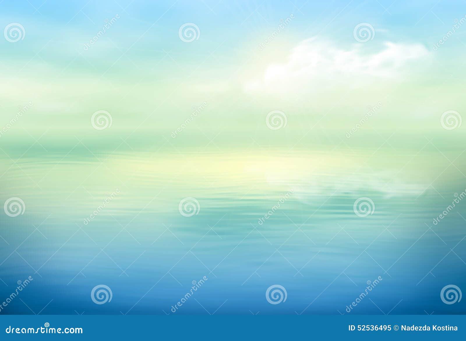Calma del fondo di vettore dell acqua chiara