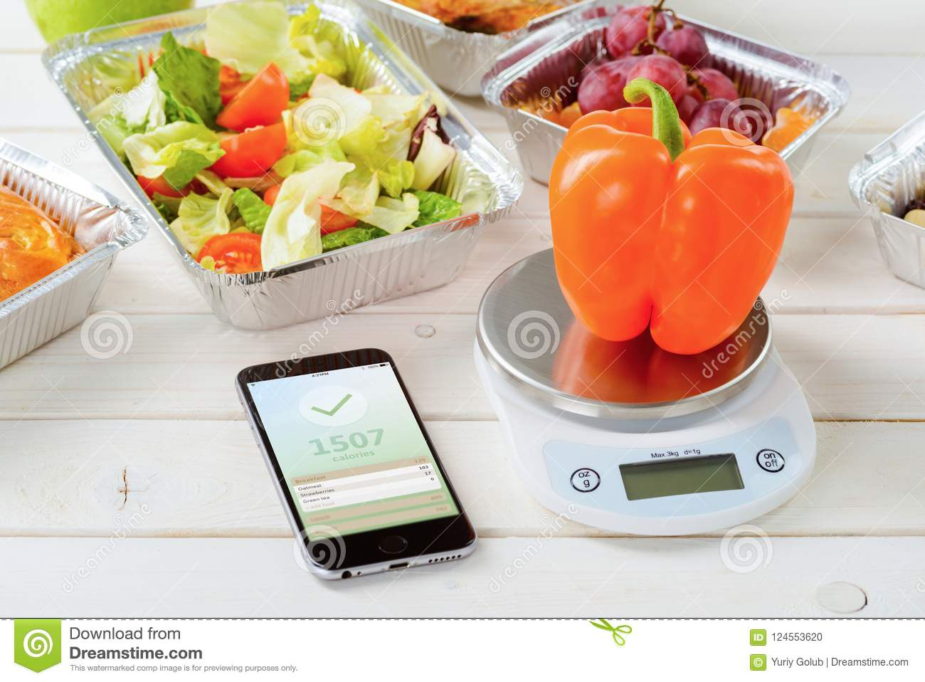 Salad and calorie counter app