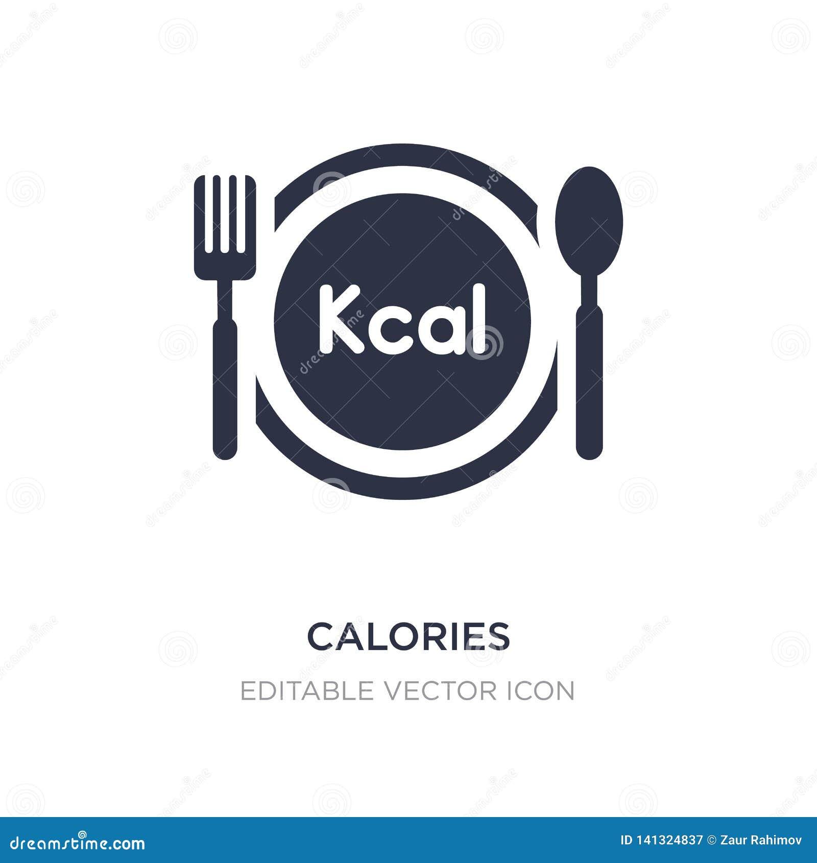 Calorie di icona su fondo bianco Illustrazione semplice dell elemento dal concetto dell alimento