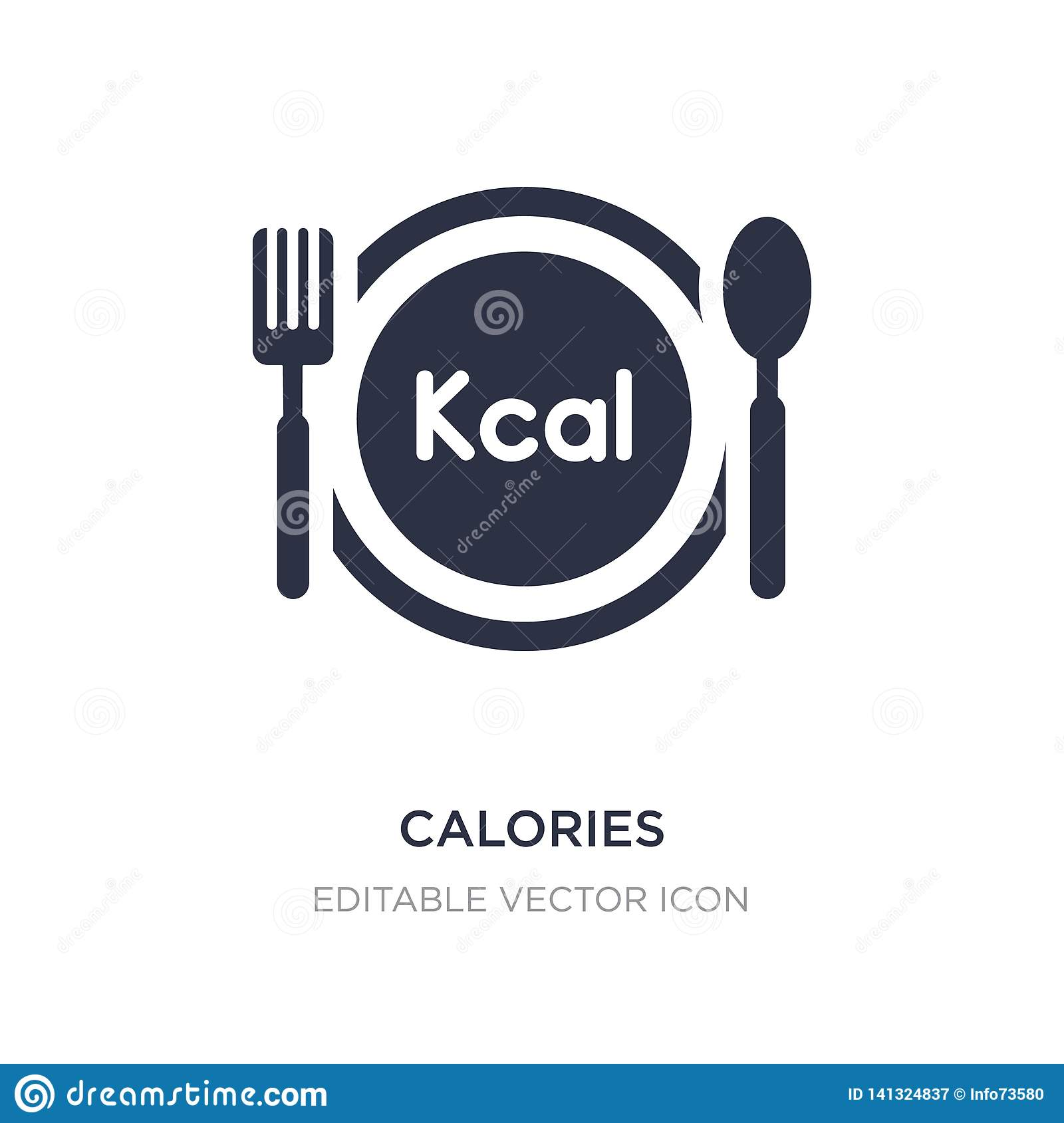 calories icon on white background. Simple element illustration from Food concept
