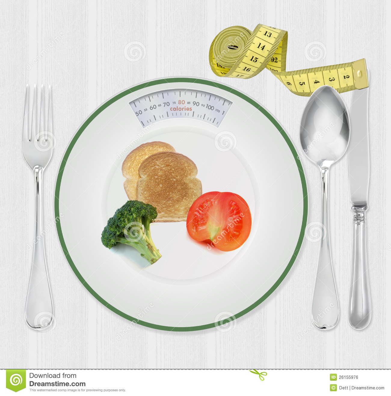 Calories Scale Plate With Diet Food Royalty Free Stock ...