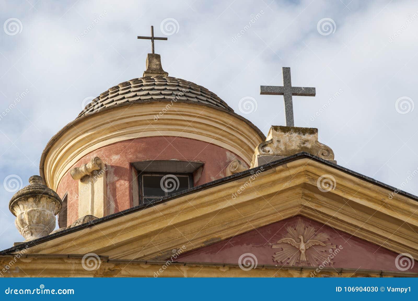 Calvi, cytadela, kościół, antyczne ściany, linia horyzontu, Corsica, Corse, Francja, Europa, wyspa