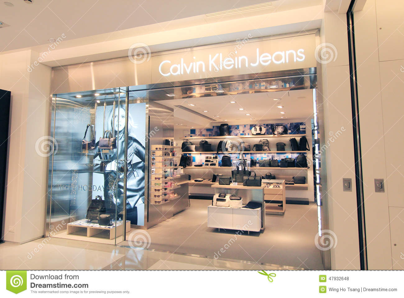 calvin klein jeans shop in hong kong editorial stock photo image 47932648. Black Bedroom Furniture Sets. Home Design Ideas