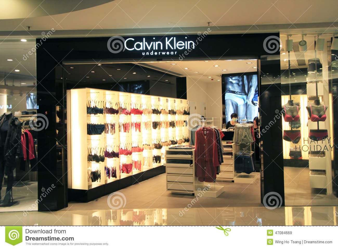 calvin klein shop in hong kong editorial stock image image of clothes shopping 47084669. Black Bedroom Furniture Sets. Home Design Ideas