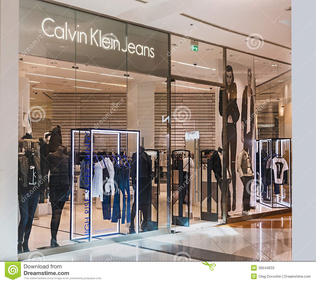 calvin klein store clothes in the mall metropolis editorial stock photo image of branding. Black Bedroom Furniture Sets. Home Design Ideas