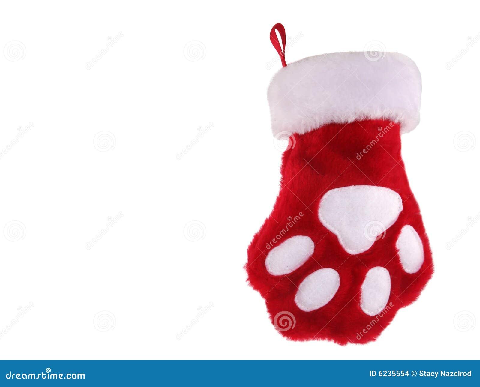 Babbo Natale Zampa.Calza Della Zampa Di Natale Fotografia Stock Immagine Di Isolato