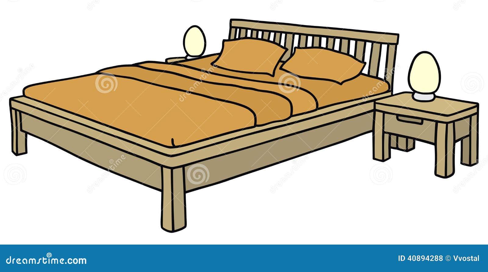 Cama ilustraci n del vector imagen 40894288 for Cama 3d dibujo