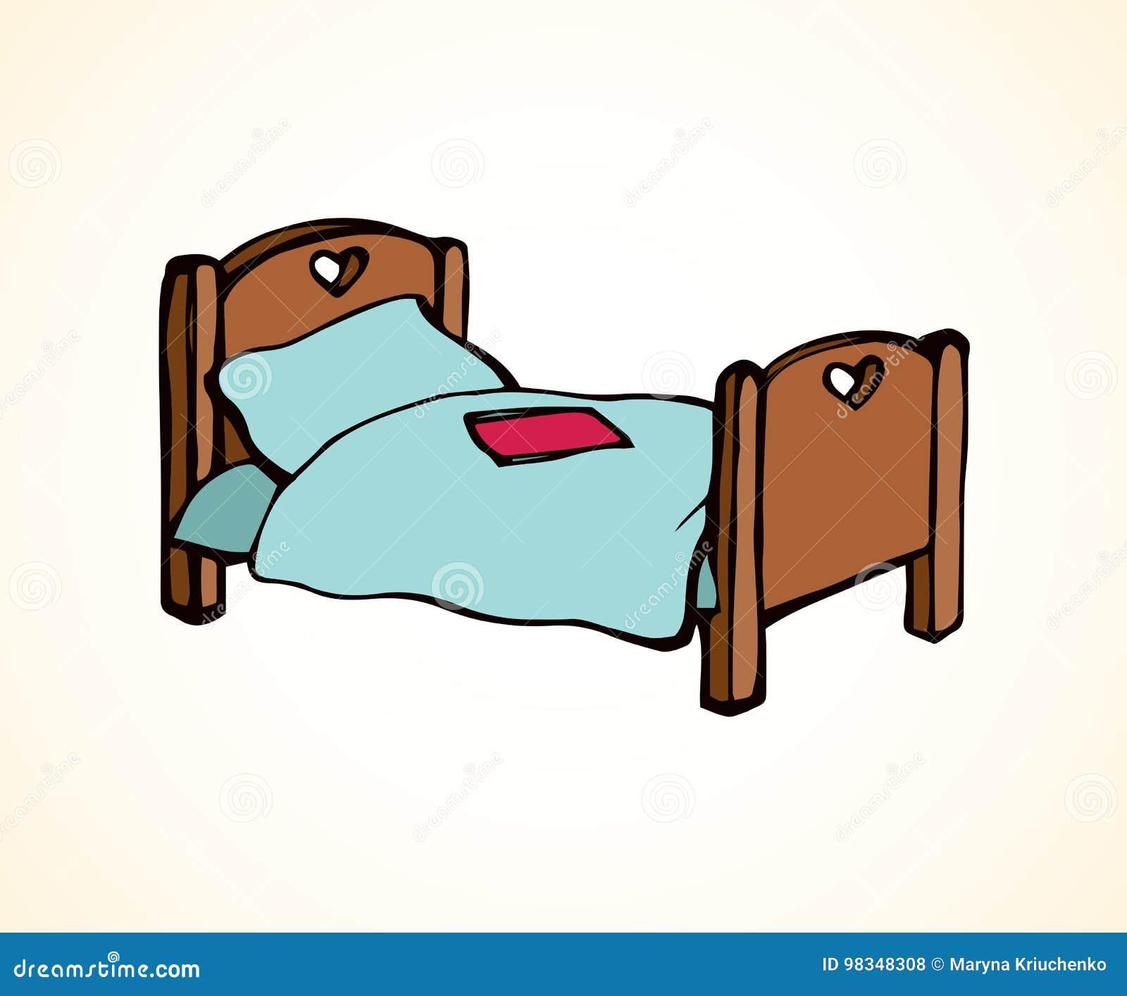 cama desenho do vetor ilustra o do vetor ilustra o de elegance 98348308. Black Bedroom Furniture Sets. Home Design Ideas