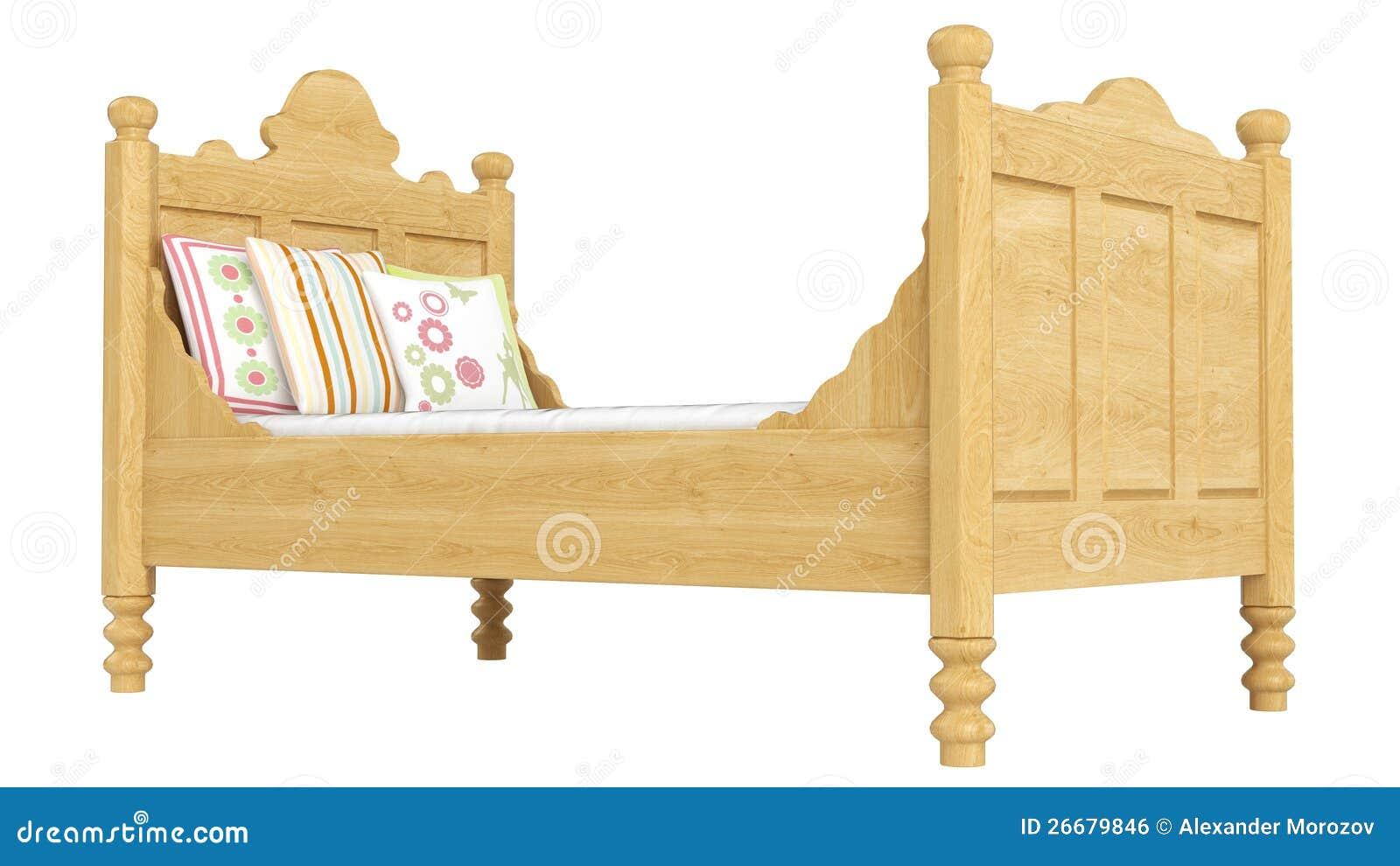 Cama dobro de madeira