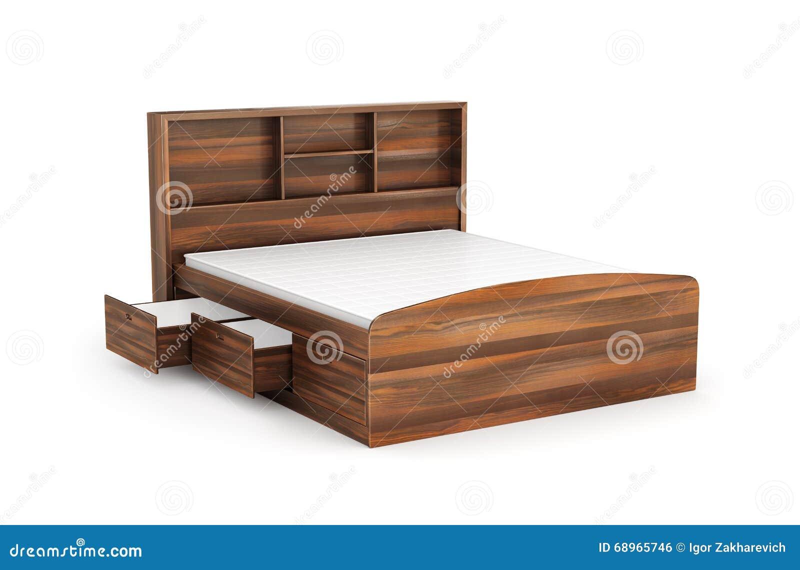 Cama matrimonial con el caj n de debajo stock de for Base de cama matrimonial con cajones