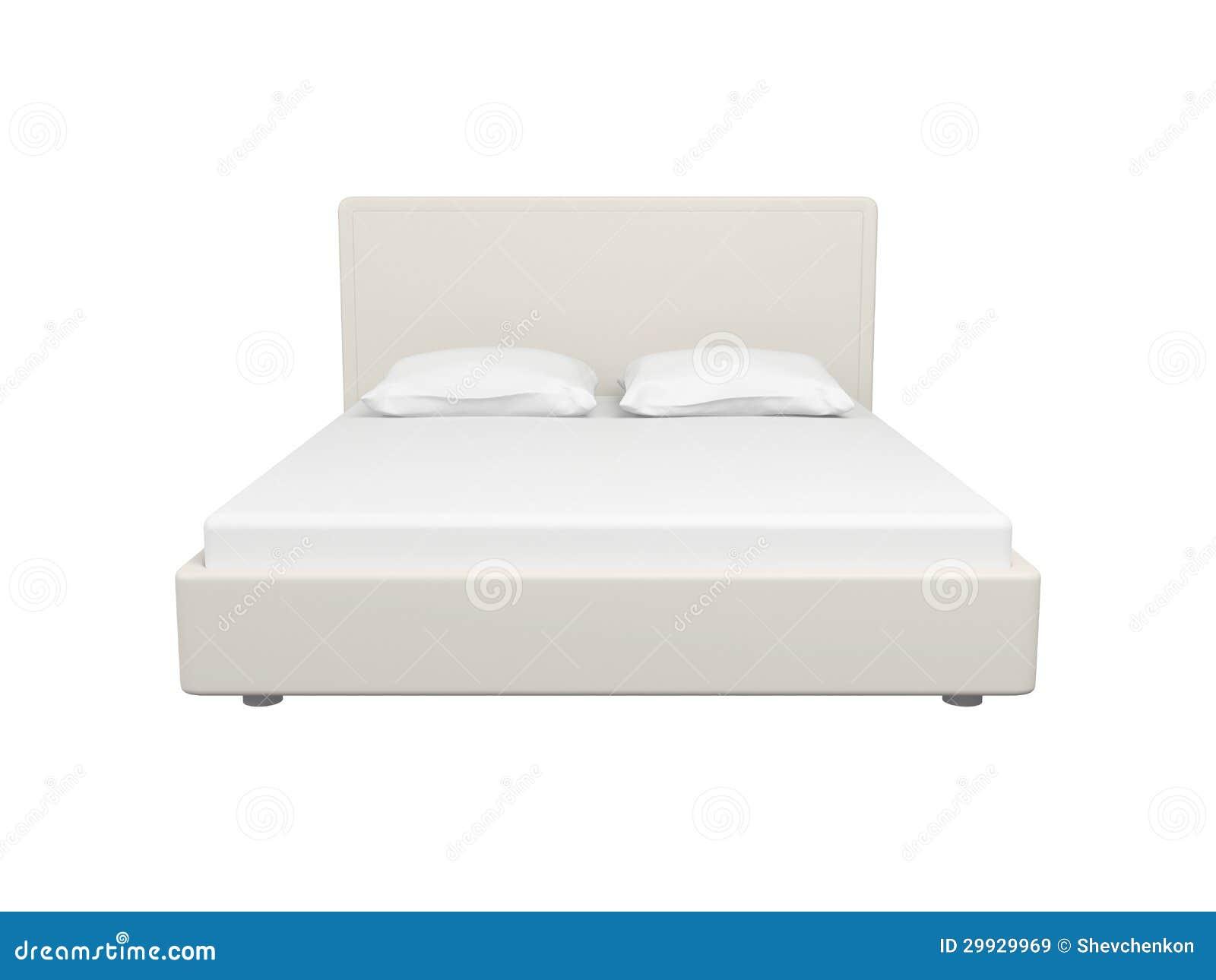 Cama blanca doble im genes de archivo libres de regal as for Una cama matrimonial