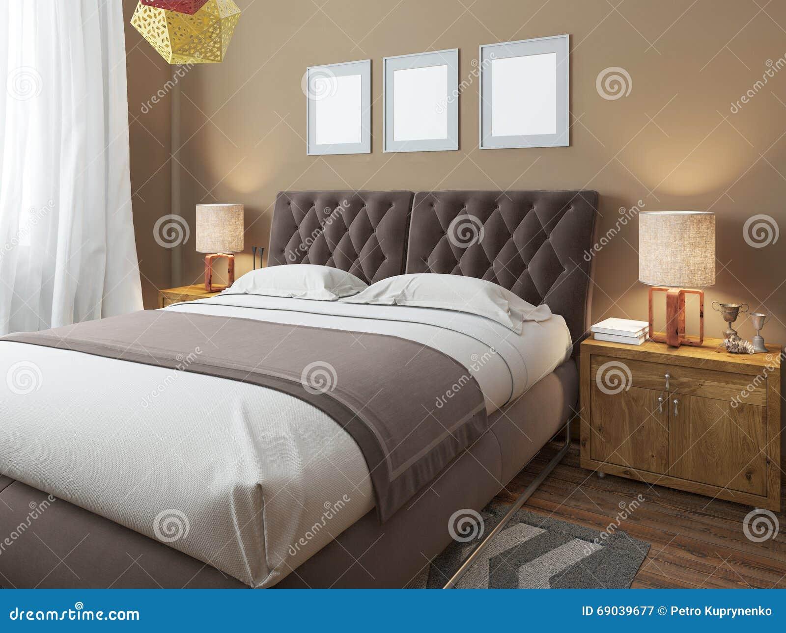 cama matrimonial moderna grande de lujo en el estilo del