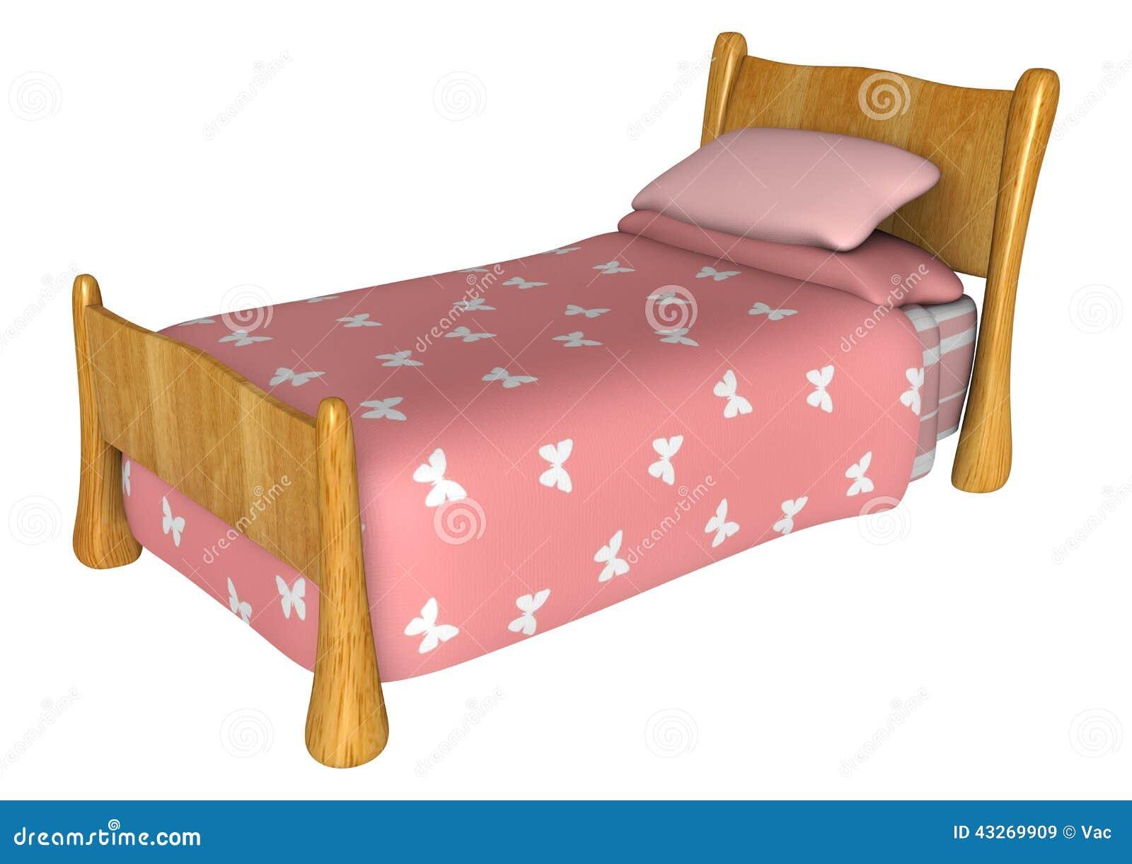 cama rosada stock de ilustraci n imagen 43269909. Black Bedroom Furniture Sets. Home Design Ideas