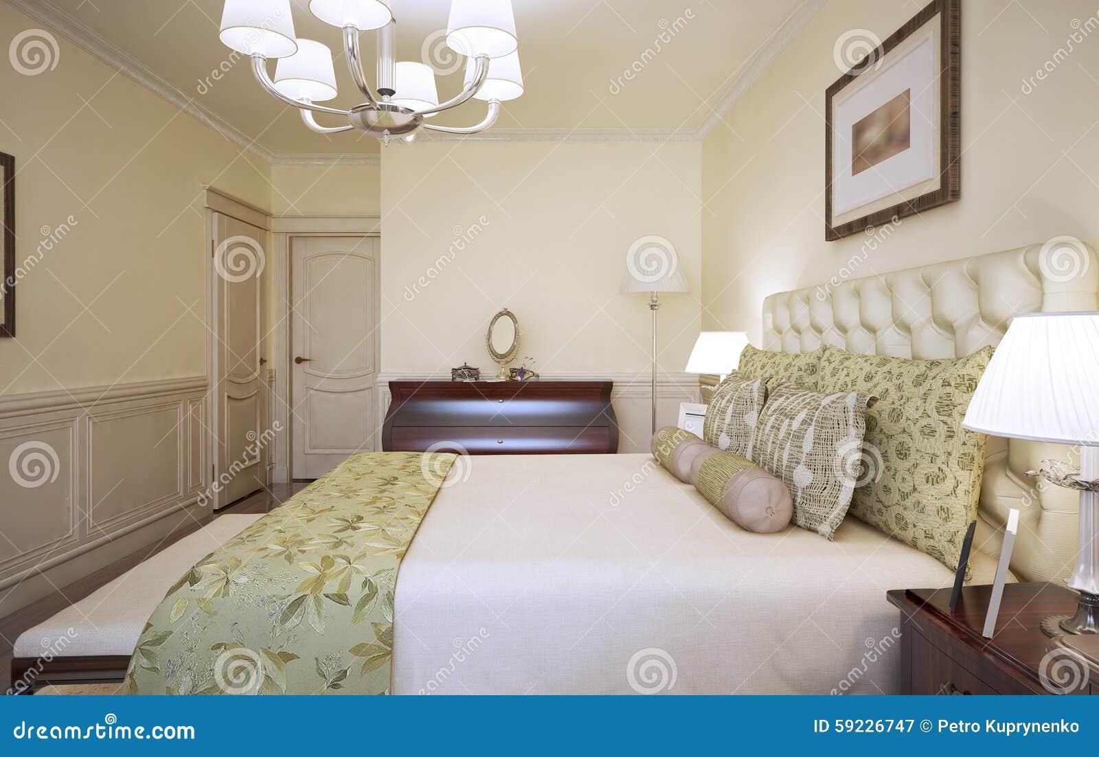 Download Cama Vestida En Dormitorio Moderno Stock de ilustración - Ilustración de preparación, alfombra: 59226747