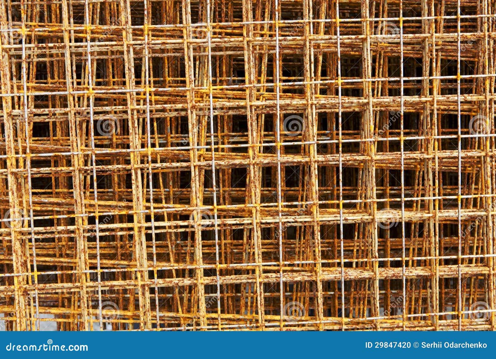 Haste de aço oxidada para a construção