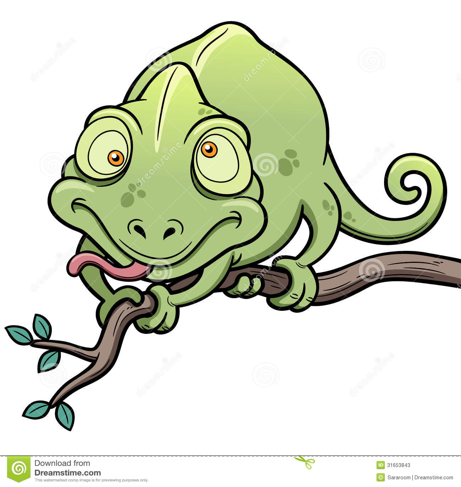 camaleão dos desenhos animados ilustração do vetor ilustração de