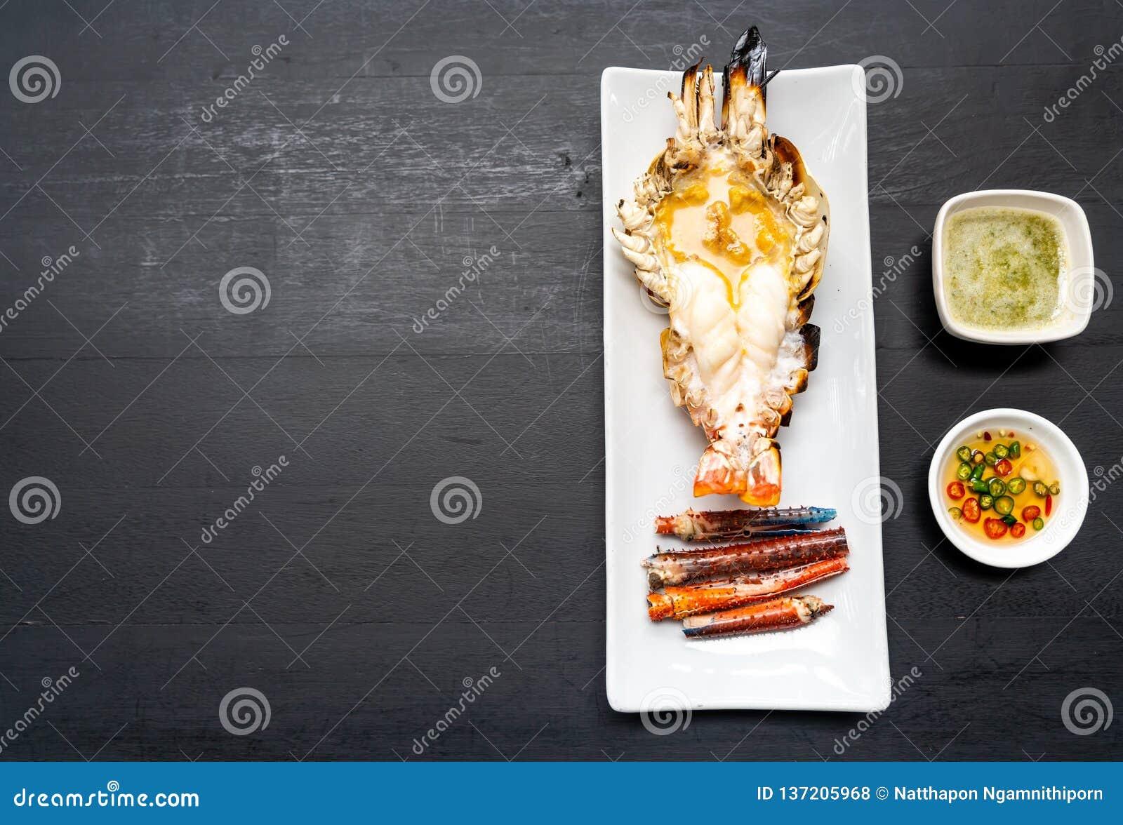 Camarão de rio gigante grelhado
