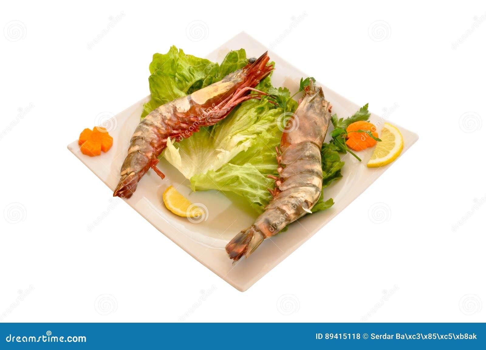 Camarão delicioso cozinhado