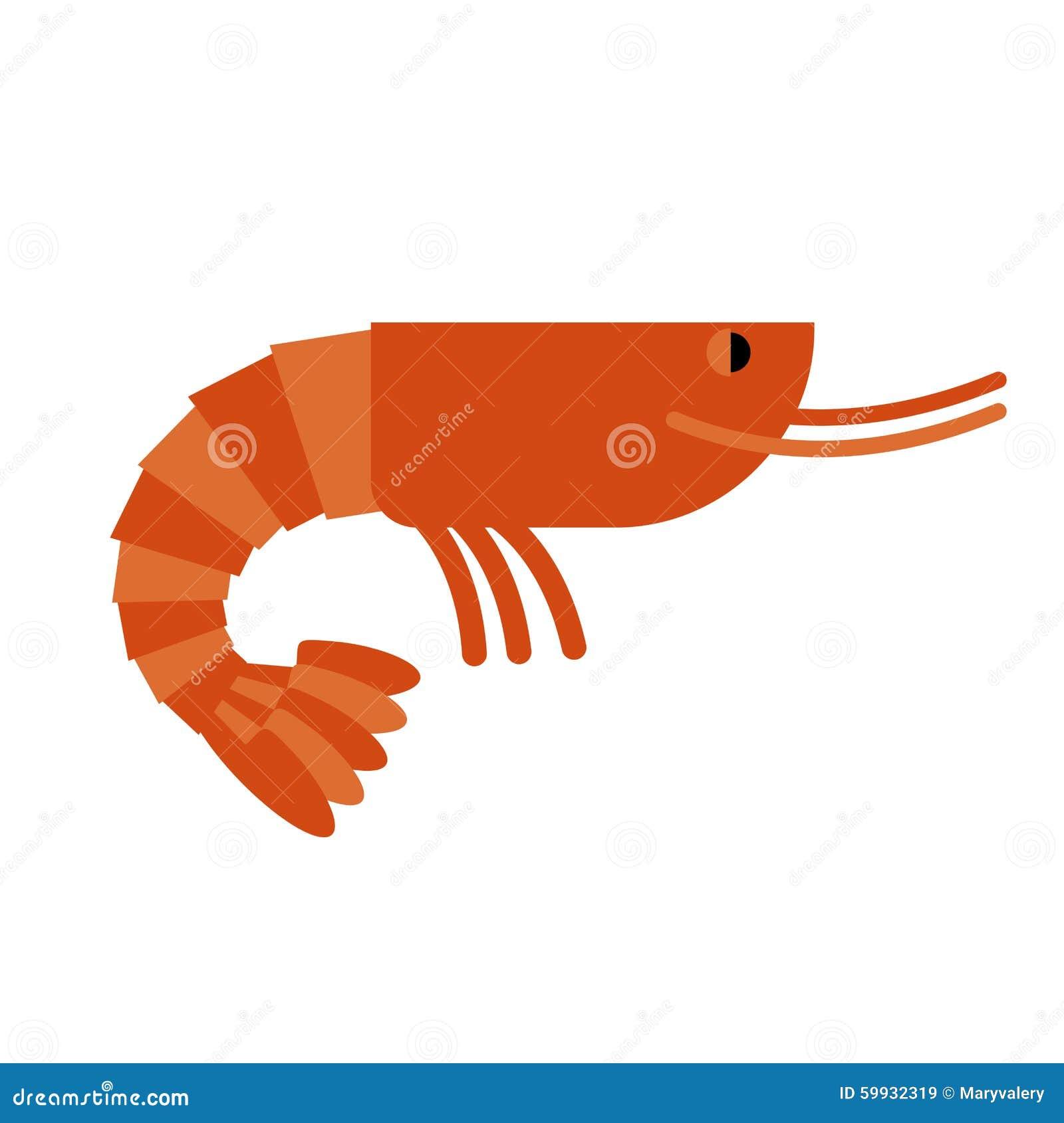 Camarón Cancroide marino Delicadeza hervida del camarón S anaranjado cocinado