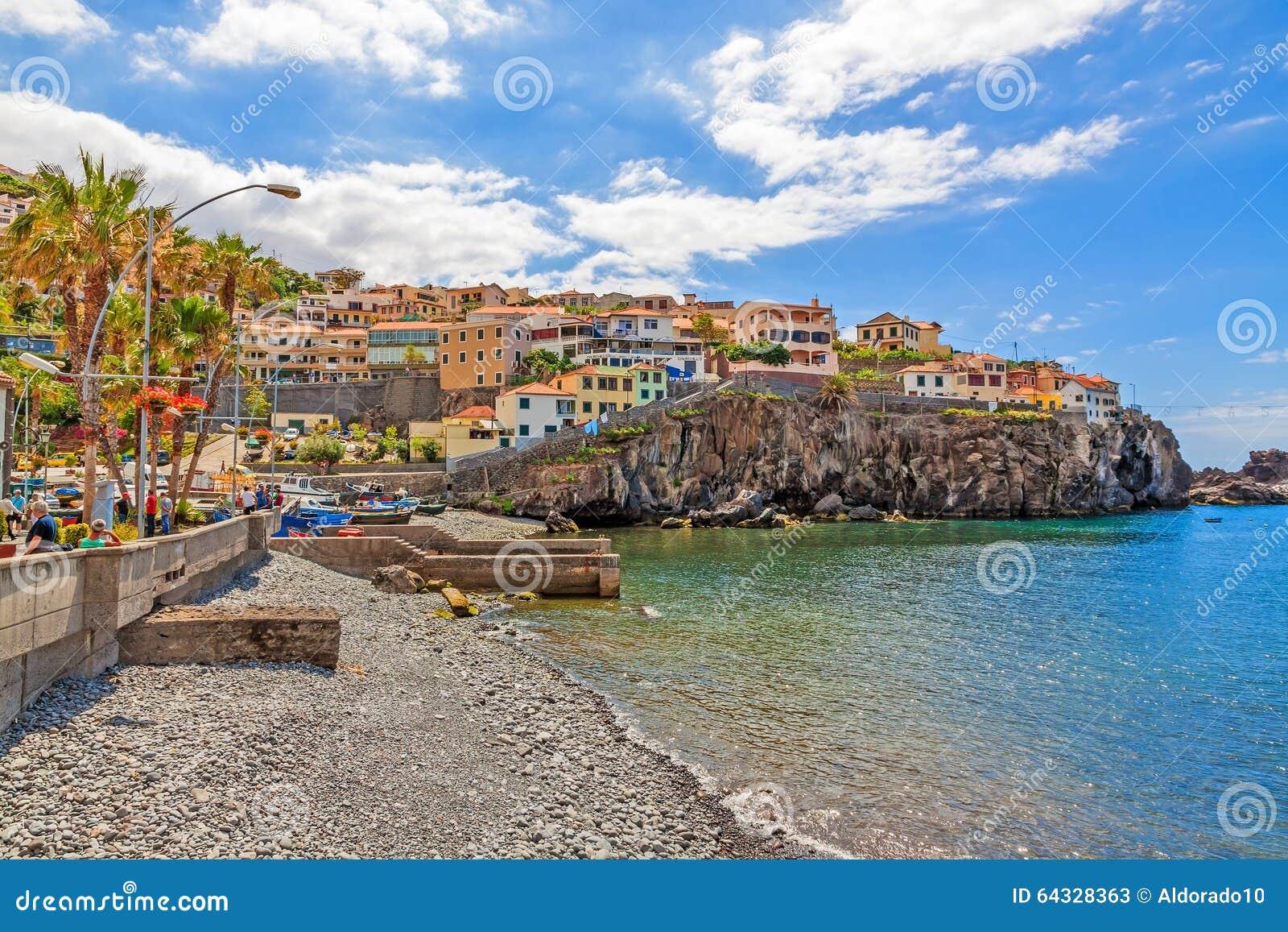 Camara De Lobos-Hafen, Madeira Mit Fischerbooten Redaktionelles ...