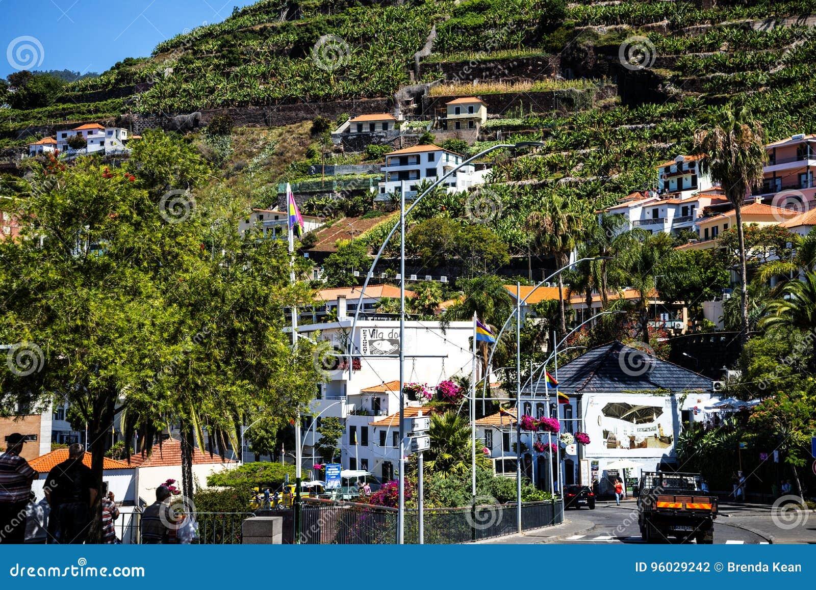 Camara De Lobos jest wioską rybacką blisko miasta Funchal i niektóre wysokie falezy w świacie