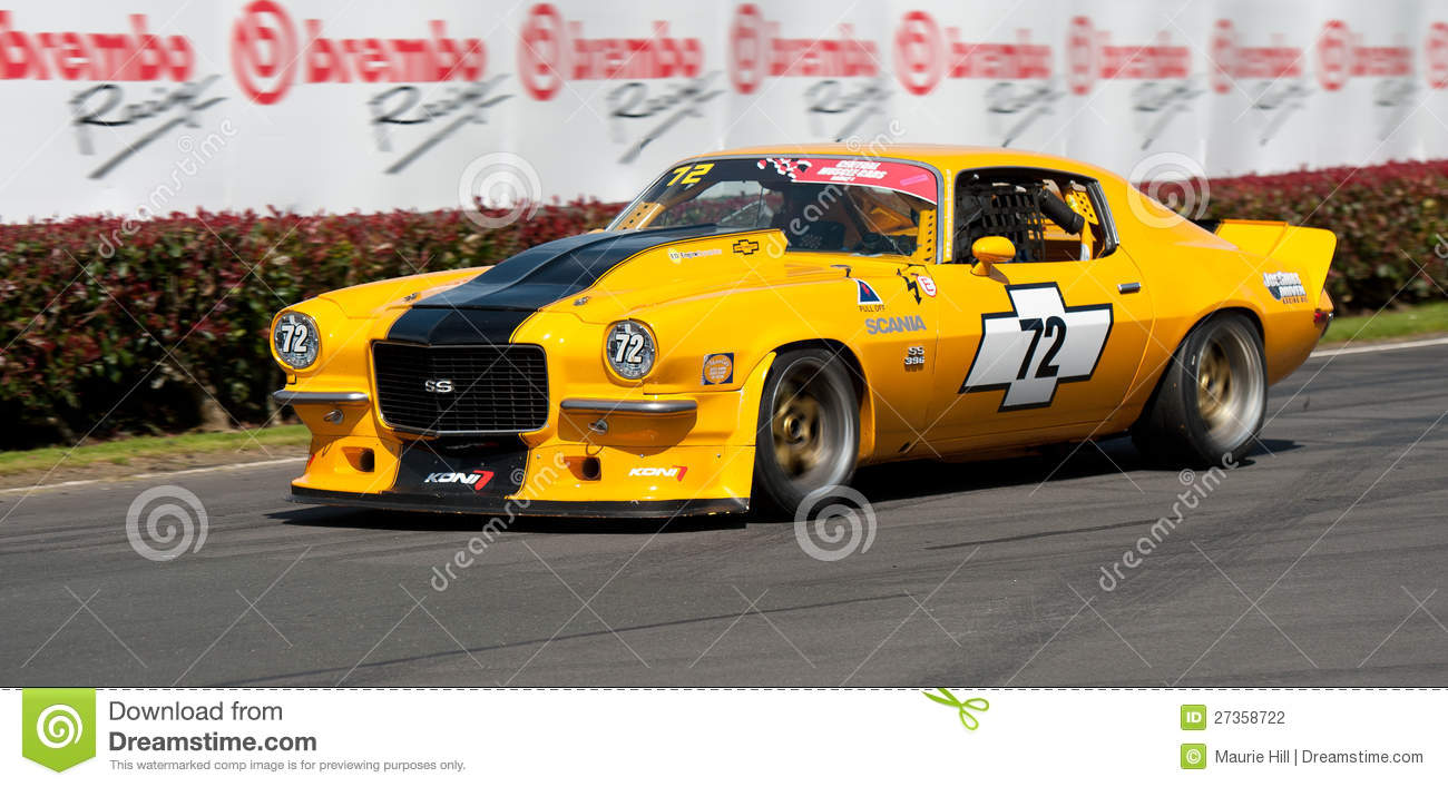 Camaro Muscle Car Racing Editorial Photography Image